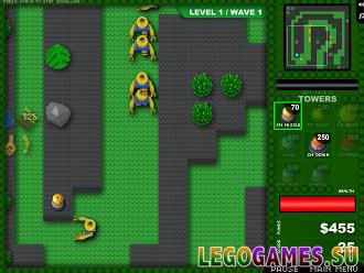 Игра лего зомби защита башни